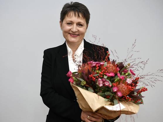 November 2016: Franziska Roth (SVP) wird wird im zweiten Wahlgang zur Regierungsrätin gewählt. Applaus von SVP-Parteikollegen: Franziska Roth setzte sich gegen Maya Bally (BDP) und Yvonne Feri (SP) durch.