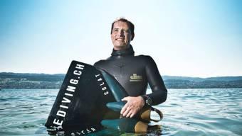 13 Liter Lungenvolumen: Peter Colat fühlt sich unter Wasser pudelwohl – auch ohne Luft.