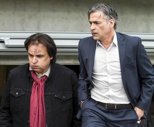 Es herrscht dicke Luft zwischen Christian Constantin (links) und Maurizio Jacobacchi.