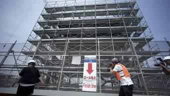 Eine Baustelle für die Olympischen Spiele 2020 in Tokio