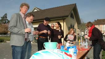 1.-April-Scherz in Brugg: Statt Streusalz gab es Salzstängeli