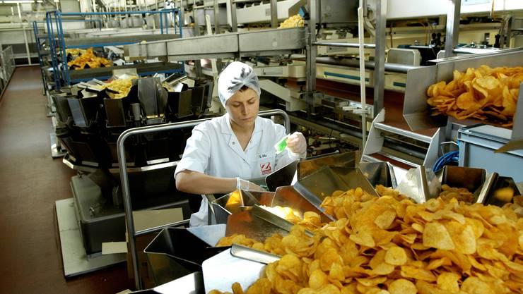 Aufnahmen vom 23. Mai 2007 in den Produktionshallen der Zweifel Pomy-Chips AG in Spreitenbach.