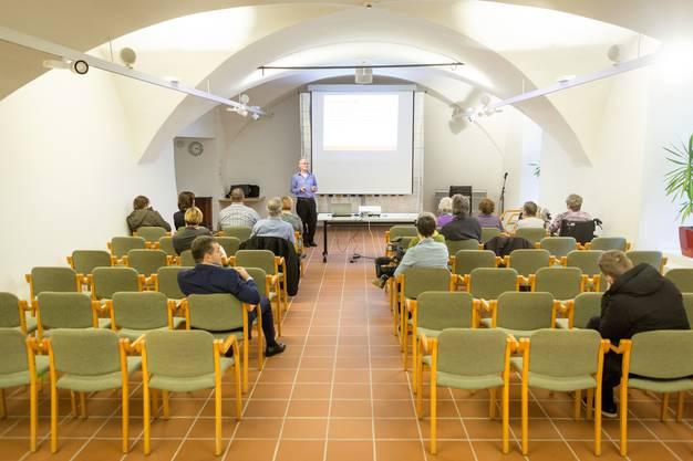 Infoveranstaltung für ehemalige Verdingkinder im Altersheim Gallatti in Aarau. Aufgenommen am 30. November 2017.