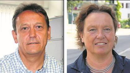 André Bender (SVP) muss sich gegen Käthi Mühlemann (SP) behaupten. Foto: zim