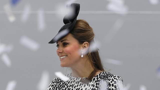 Auf ihre Niederkunft wartet alle Welt: Kate Middleton (Archiv)