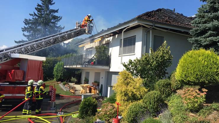 Oftringen: Brandausbruch in Einfamilienhaus