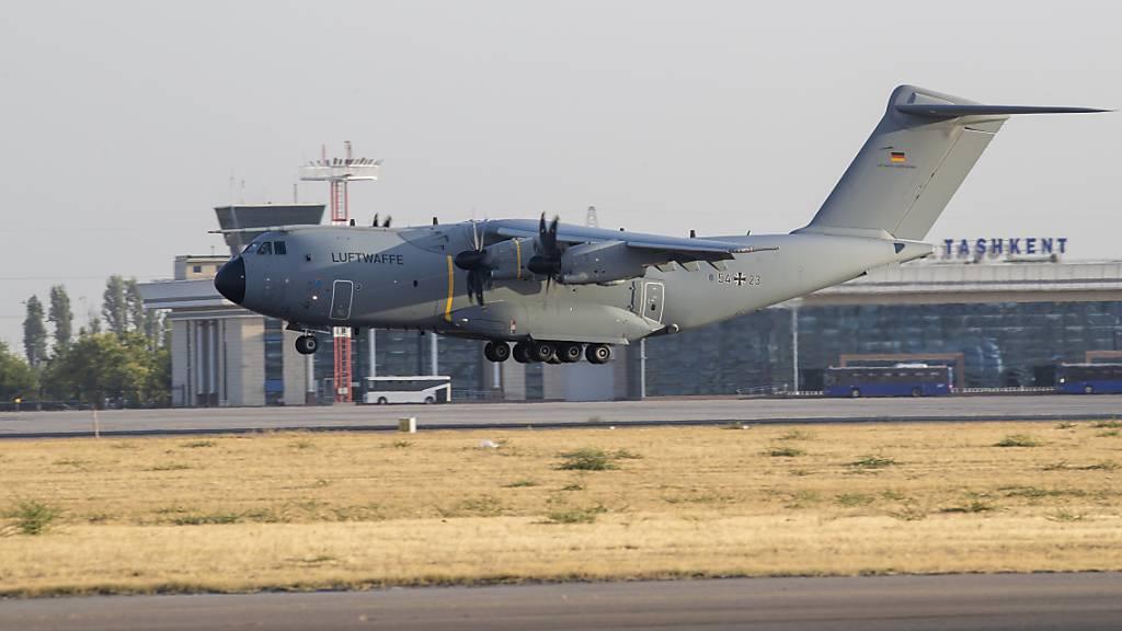 Dritte Bundeswehr-Maschine mit Evakuierten in Taschkent gelandet