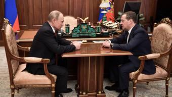 Präsident Wladimir Putin und Ministerpräsident Dmitri Medwedew.