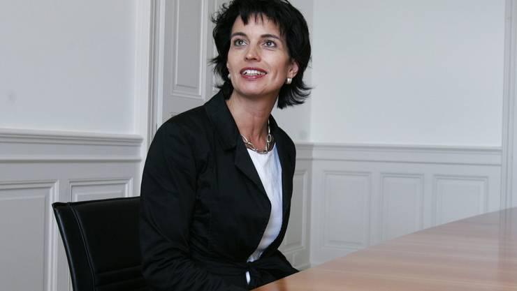 2006: Erster Arbeitstag als Wirtschaftsministerin.