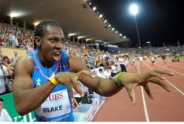 Das Biest Yohan Blake zeigt seine Krallen: Nur Landsmann Usain Bolt war über 100 m jemals schneller als seine 9,69 von Lausanne.Bott/Keystone