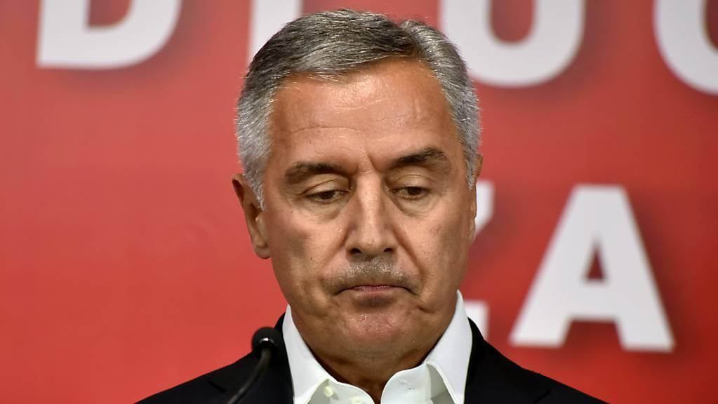 Milo Djukanovic, Präsident von Montenegro, in der Parteizentrale in Podgorica.