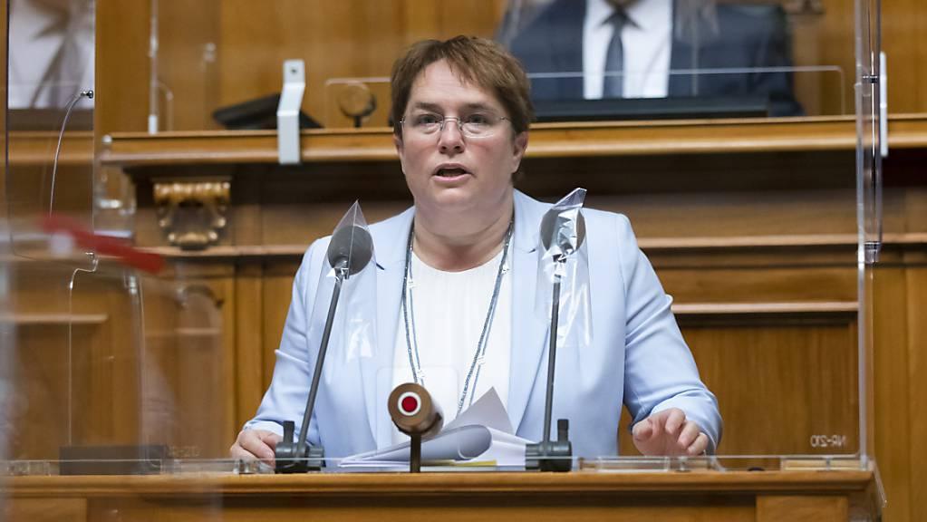 Die SVP-Nationalrätin Magdalena Martullo-Blocher fordert, dass die Laufzeit der bestehenden Schweizer Atomkraftwerke verlängert wird. Sonst drohe eine Stromlücke. (Archivbild)