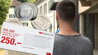 Der Angeklagte musste sich am Donnerstagmorgen für seine Taten verantworten. Der 21-Jährige verkaufte gefälschte Fünfliber und wertlose Gutscheine.