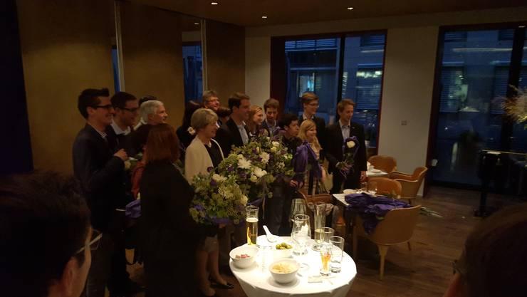 Das Making-of des Siegerbildes mit allen Kandidierenden der FDP Aargau.