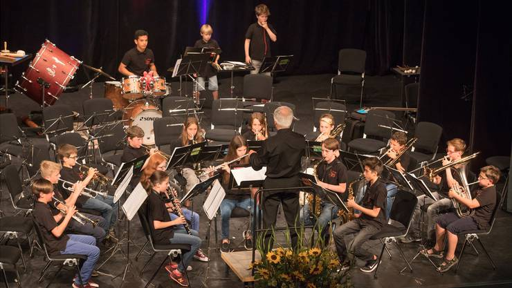 Das Aspirantenkorps der Oltner Jugendmusik