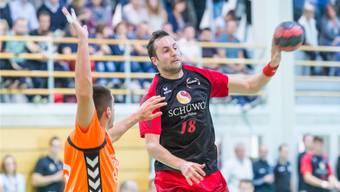 Er wird auch in dieser Saison für Handball Wohlen alles geben: Adrian Studerus.