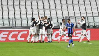 Leere Ränge in der Serie A: Jubel bei Juventus gegen Inter ohne Zuschauer.