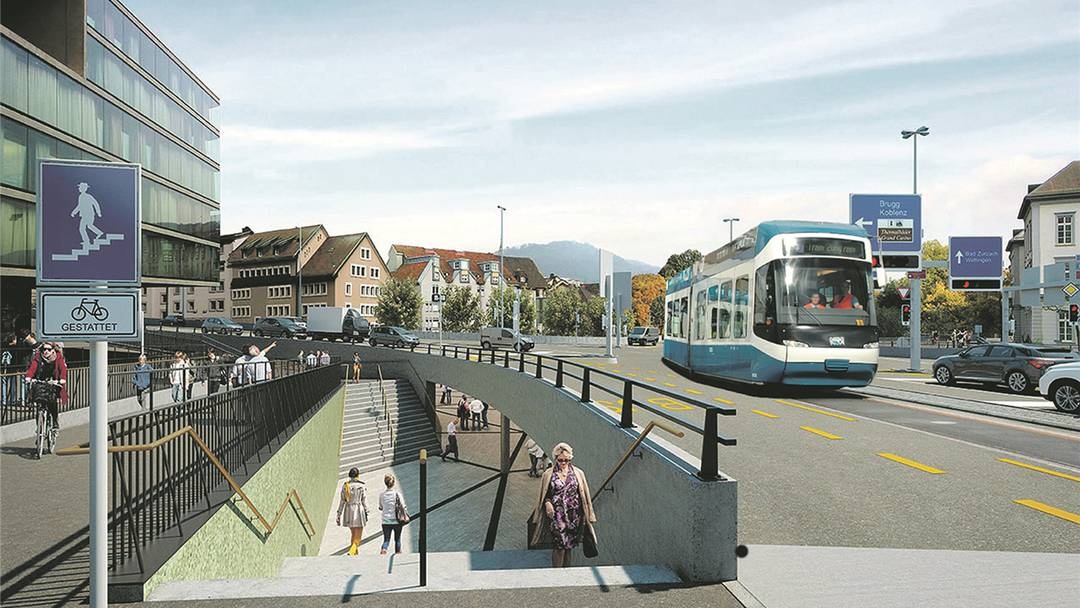 Ein Tram bis nach Baden: Jonas Fricker (Grüne) und Gian von Planta (GLP) fordern Limmattalbahn bis nach Baden.
