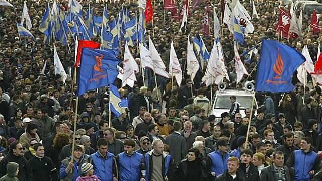Dauerproteste in Georgien