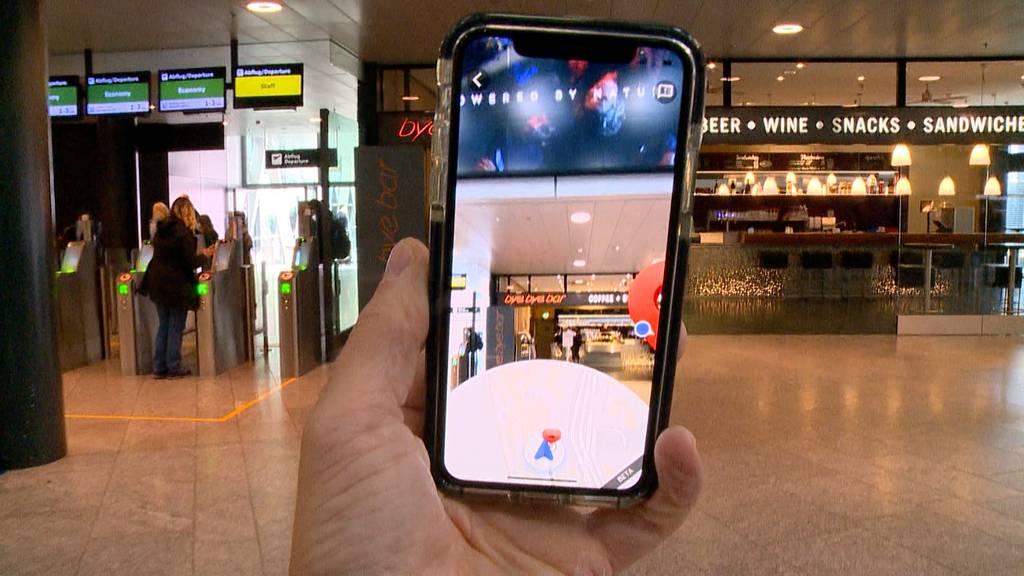 Weltneuheit am Flughafen Zürich: Wegbeschreibungen via Liveviewer