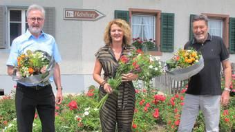Gut gelaunt: Lothar Eckert, Renate Trösch und Hermann Spiess (von links).