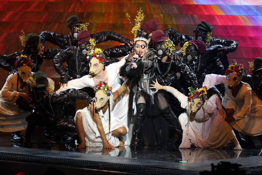 Die 60-jährige Madonna gab einen Gastauftritt am ESC 2019 in Tel Aviv.