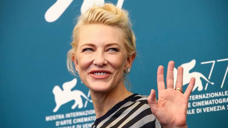 Jurypräsidentin Cate Blanchett bei der Eröffnung der Filmfestspiele in Venedig: «Ich freue mich sehr, hier zu sein, denn in den vergangenen sechs Monaten habe ich mich nur mit Hühnern und Schweinen unterhalten.»