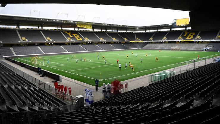 Geisterspiel: YB und Kriens im leeren Stade de Suisse.