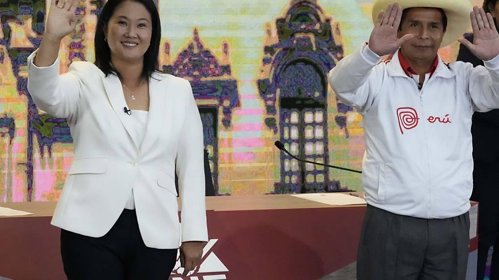 Die konservative Keiko Fujimori und der linke Pedro Castillo kämpfen in Peru um die Präsidentschaft.