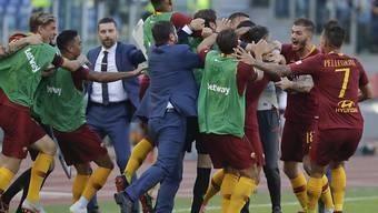 So jubelt man in Rom über den entscheidenden Treffer im Derby