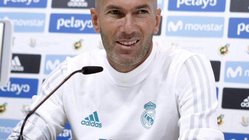 Real Madrids Coach Zinédine Zidane hatte zuletzt viel Grund zum Jubeln