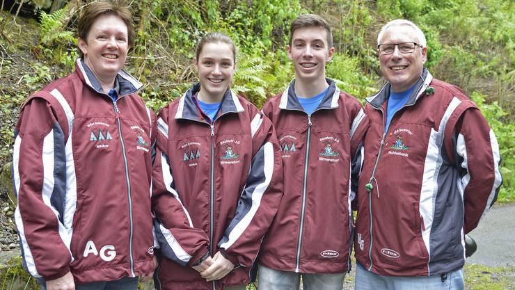 Erfolgreiche Schützenfamilie: Patrick Gütiger (zweiter von rechts), erzielte gar das Punktemaximum.