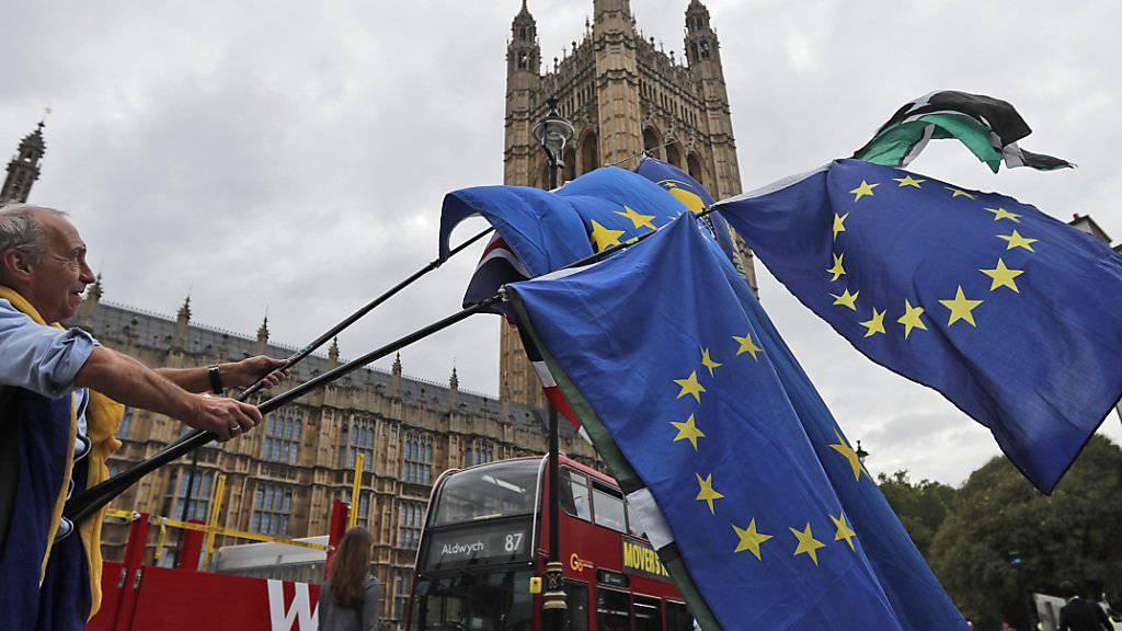 Die Mehrheit der Briten würde Umfragen zufolge in einem neuen Referendum nicht mehr für einen Austritt Grossbritanniens aus der EU stimmen. (Archivbild)