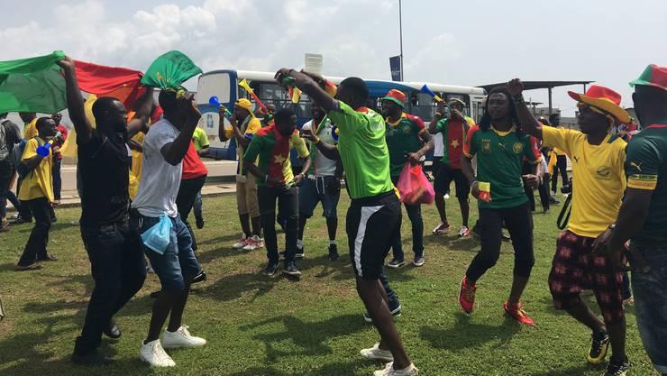 Ausgelassene Stimmung bei den Fans am Africa-Cup.