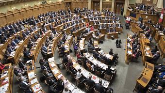 «Wie viele Parlamentarier gehen während der Session im Bundeshaus ein und aus? 246, logisch.» (Archiv)