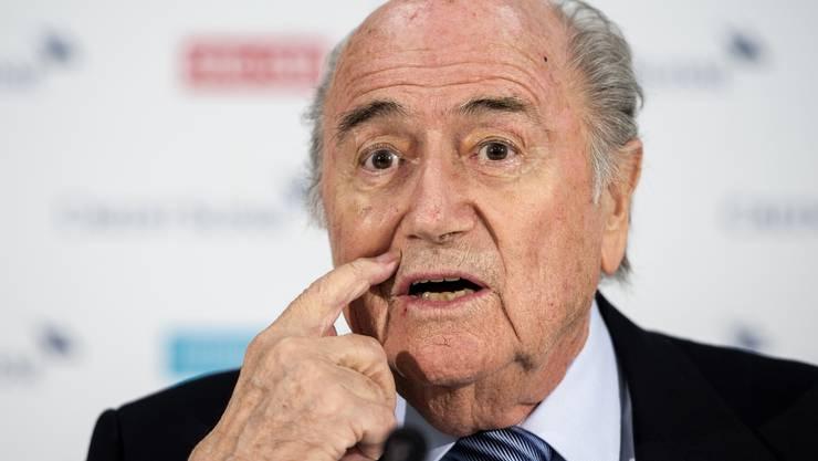Der Steinwurf erfolgte im Zuge einer Demonstration gegen Fifa-Präsident Sepp Blatter.