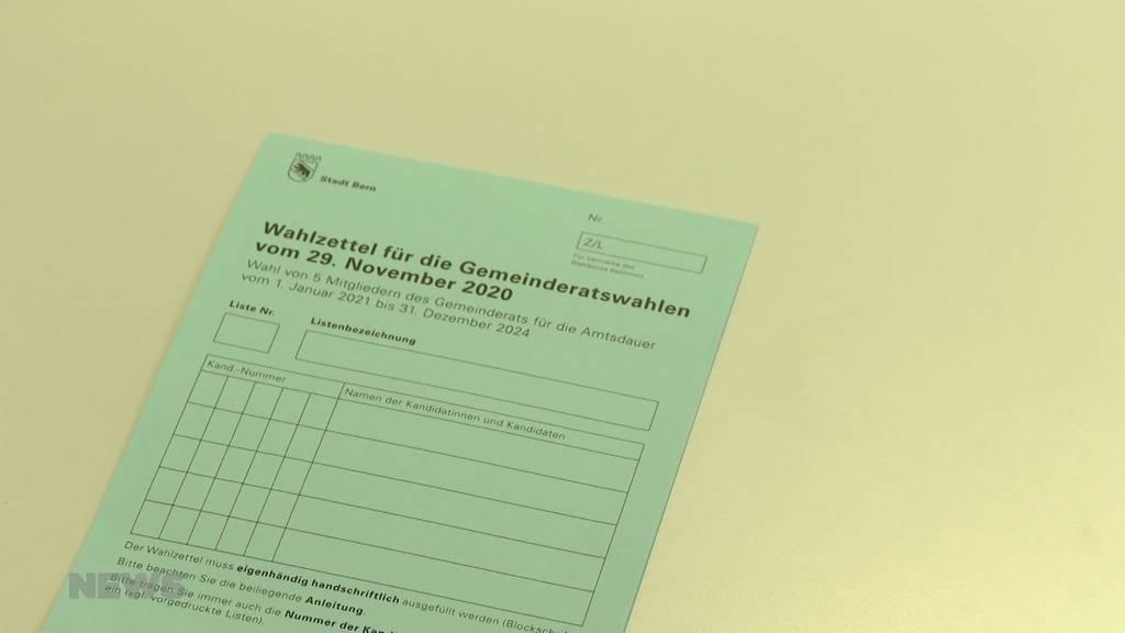 Stadt Bern verschickt unvollständiges Wahlmaterial