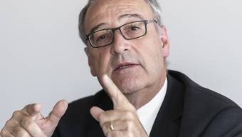 """Bundesrat Guy Parmelin, Vorsteher des Departements für Wirtschaft, Bildung und Forschung WBF, sprach über das Abkommen mit den Mercosur-Staaten von einem grossen """"Meilenstein""""."""