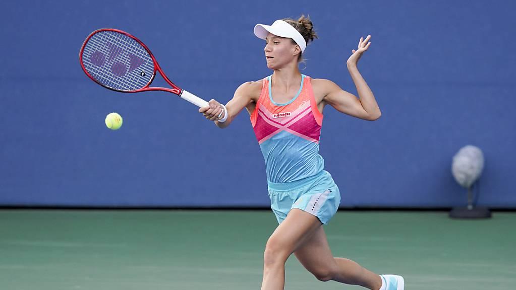 Viktorija Golubic sah lange Zeit wie die Siegerin aus, ehe sich die Partie gegen Vera Lapko wendete.