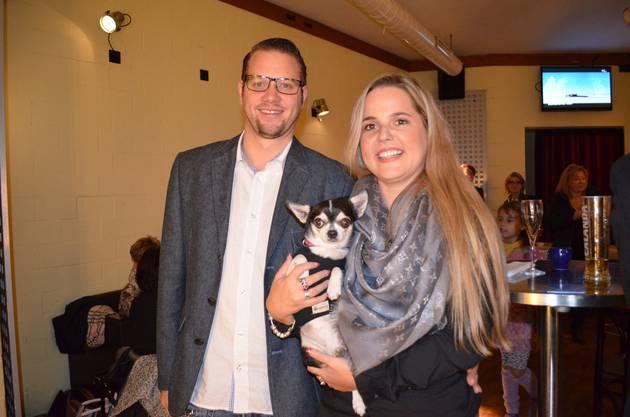 Martina Bircher mit Partner Fabian Meyer.