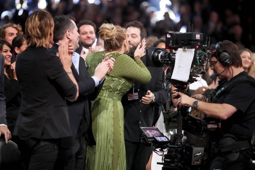 Eines der seltenen Bilder des Paares: Adele und Simon bei den Grammys 2017. (Bild: Christopher Polk/Getty Images)