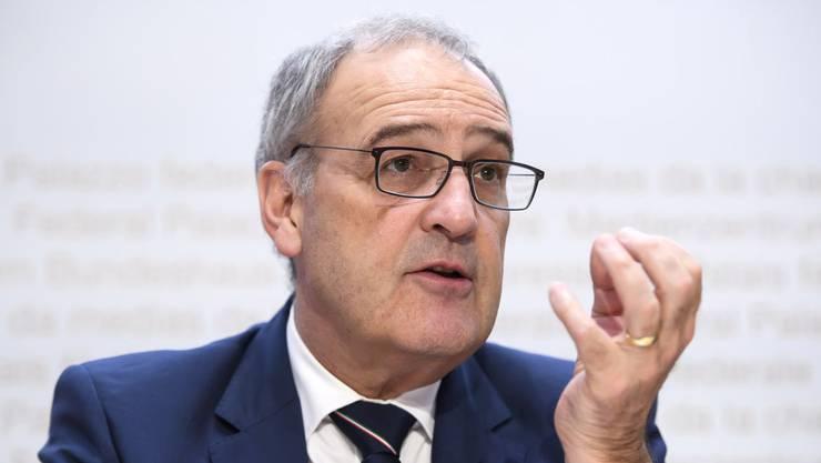 Wirtschaftsminister Guy Parmelin (SVP).