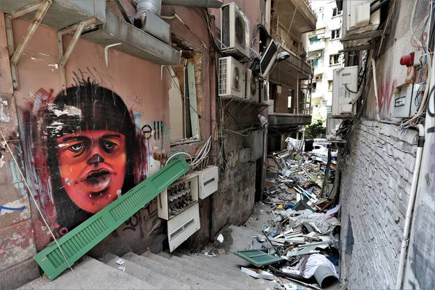 Grosse Teile Beiruts liegen in Trümmern.
