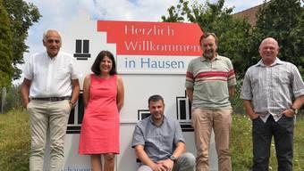 Nach der Gründung (von links): Reto Miloni, Corine de Kater, Severin Wälchli, Christoph Mühlhäuser (Präsident) und Markus Lang (Präsident der Grünliberalen Bezirk Brugg).