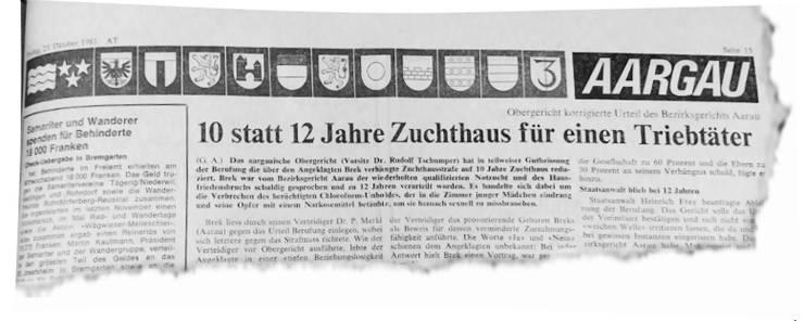 «Aargauer/Badener Tagblatt», 23.10.81