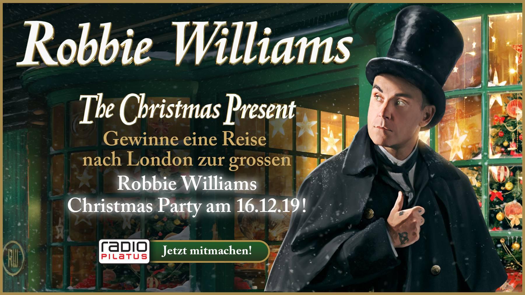 Auf zur «Robbie Williams Christmas Party» in London!