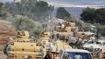Offensive in Afrin: Türkische Soldaten Ende Januar an der türkisch-syrischen Grenze.
