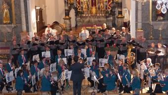 Die Musikgesellschaft Frick gab am ersten Advent ein Konzert in der Kirche.