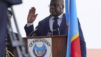 Felix Tshisekedi. Präsident der demokratischen Republik Kongo, während der Vereidigung am 24. Januar 2019 in Kinshasa. (Archivbild)
