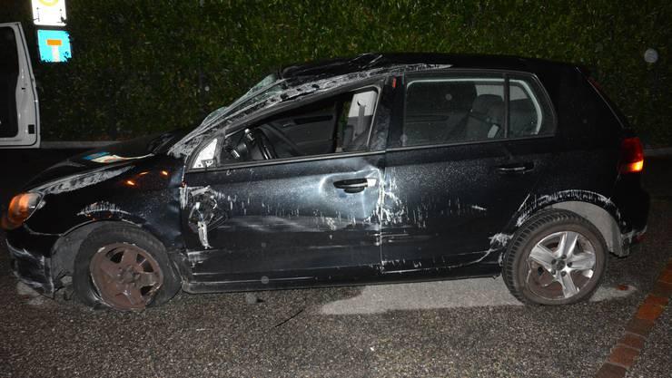 Der Autolenker verlor vor der Autobahnausfahrt Rothrist die Kontrolle übers Fahrzeug.